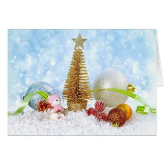 Het Wenskaart van het Nieuwjaar van Kerstmis van