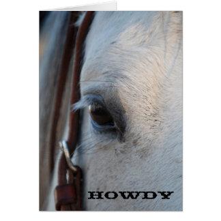 Het Wenskaart van het Paard van Howdy