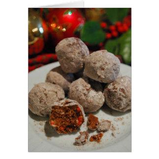 Het Wenskaart van het Recept van Kerstmis