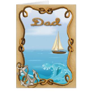 Het Wenskaart van het Vaderdag van de zeilboot