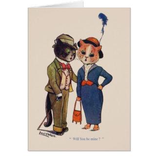 Het Wenskaart van het Verloving van de kat
