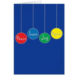 """Het Wenskaart van Kerstmis/Envelop """"Ornamenten """""""