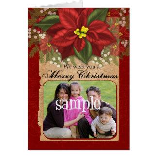 Het Wenskaart van Kerstmis van de Foto van