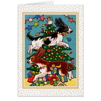 Het Wenskaart van Kerstmis van de Hond van het