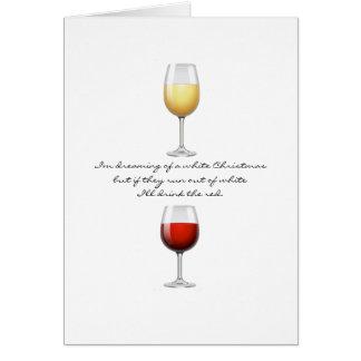 Het Wenskaart van Kerstmis van de wijn