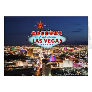 Het Wenskaart van Las Vegas