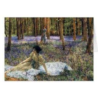 Het Wenskaart van Lawrence Alma Tadema Bluebells