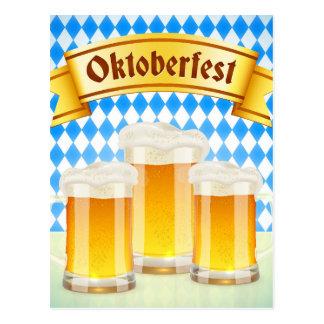Het Wenskaart van Oktoberfest met Bier Briefkaart