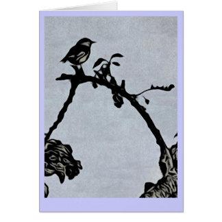 Het Wenskaart van Robin Woodcut Style