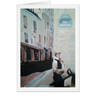 Het wenskaart van rue Mouffetard
