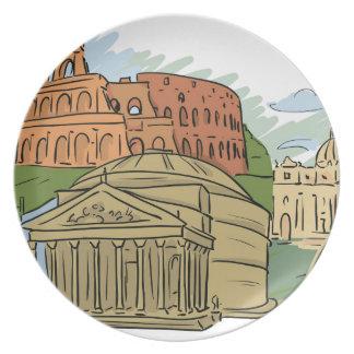 Het werd niet gebouwd in een Dag (Rome) Diner Bord