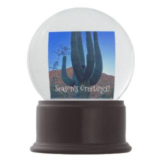 Het Wereldbol van de Sneeuw van de Cactus van Sneeuwbol