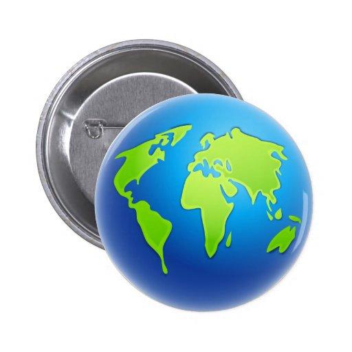 Het wereldbol van de wereld button zazzle - Home key van de wereld ...