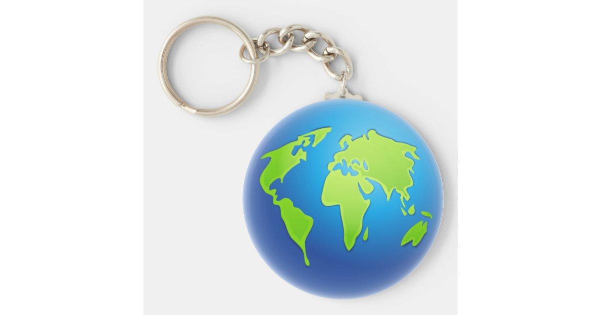 Het wereldbol van de wereld sleutelhanger - Home key van de wereld ...