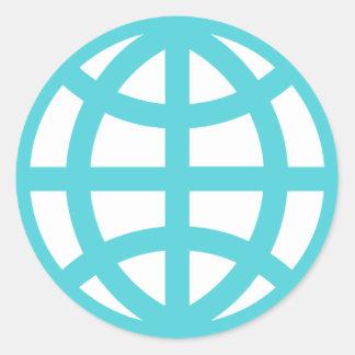 Het Wereldbol van het Web van de interconnectie Ronde Sticker