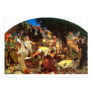 Het werk door Ford Bruine Madox Briefkaart