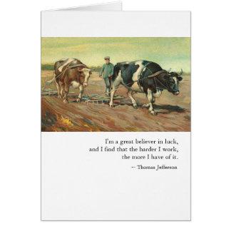 Het werk & Geluk door Thomas Jefferson Briefkaarten 0