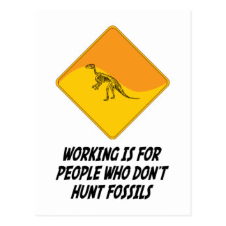 Het werken is want Who van Mensen geen Fossielen j Wens Kaart