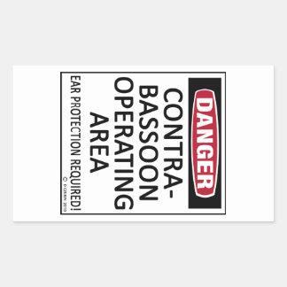 Het Werkende Gebied van Contrabassoon Rechthoekige Sticker