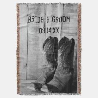 Het Westerne Huwelijk van de rustieke Laarzen van Deken