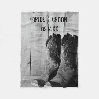 Het Westerne Huwelijk van de rustieke Laarzen van Fleece Deken