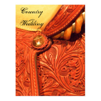 Het westerne Huwelijk van het Land van het Zadel Briefkaart