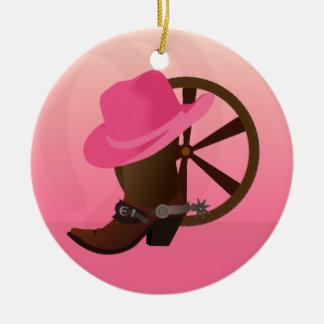 Het westerne Ornament van Kerstmis van de