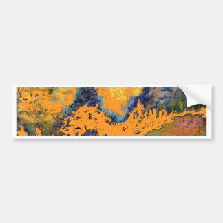 Het westerne Schilderen van het Landschap van de Bumpersticker