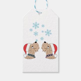Het Wheaten Verpakken van Kerstmis van Terrier Cadeaulabel
