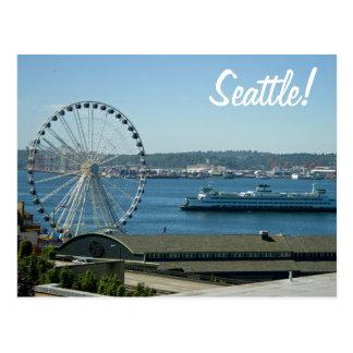 Het Wiel & de Veerboot van Seattle Briefkaart