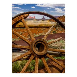 Het wiel dichte omhooggaand van de wagen, Arizona Briefkaart