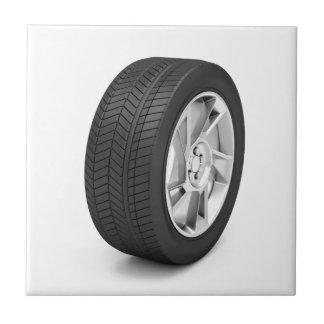 Het wiel van de auto keramisch tegeltje