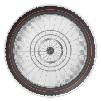 Het Wiel van de fiets en het Bord van de Keuken