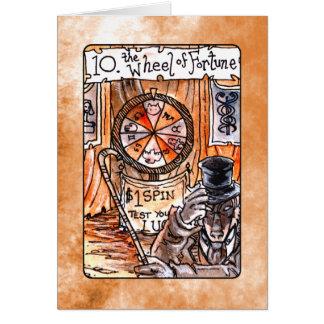 Het wiel van de Kaart van het Tarot van het