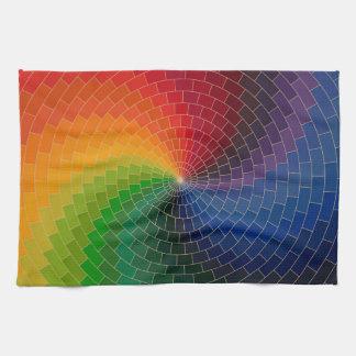 Het Wiel van de Kleur van het spectrum Keuken Handdoeken