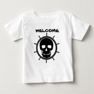 Het Wiel van de schedel Baby T Shirts