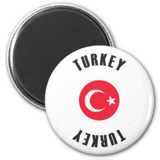 Het Wiel van de Vlag van Turkije Magneet