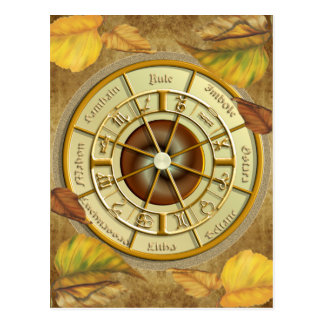 Het Wiel van Wiccan van het Briefkaart van het