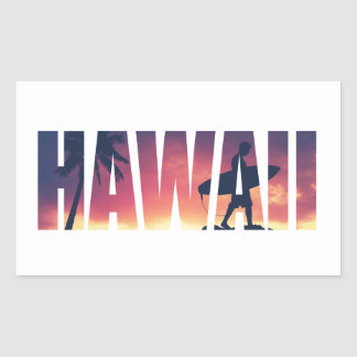 Het wijnoogst Gefiltreerde Briefkaart van Hawaï Rechthoekige Sticker