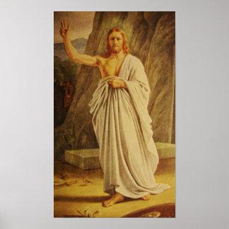 Het wijnoogst Toegenomen Poster van Christus Jesus