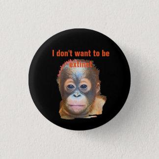Het Wild van de orangoetan Ronde Button 3,2 Cm