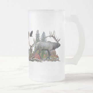 Het wild van Noord-Amerika Matglas Bierpul