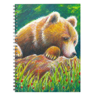 Het wildart. van de grizzly ringband notitieboek