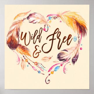 Het wilde en Vrije Hart van de Liefde van de Poster