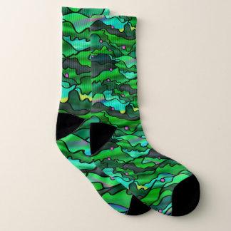 Het wilde Groene Ontwerp van het Zeegezicht Sokken