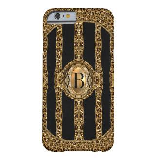 Het wilde Monogram van de Jachtluipaard Barely There iPhone 6 Hoesje