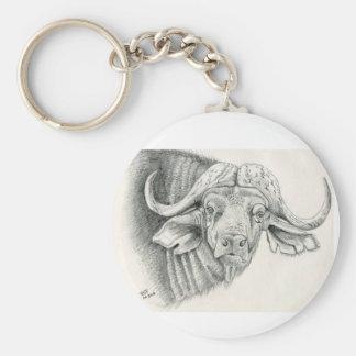 Het wildsleutelring van de Buffels van de kaap Sleutelhanger