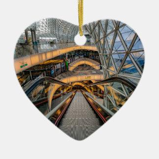 Het Winkelcomplex Frankfurt van MyZeil Keramisch Hart Ornament