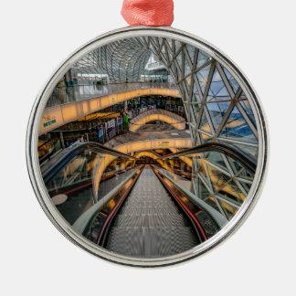 Het Winkelcomplex Frankfurt van MyZeil Zilverkleurig Rond Ornament