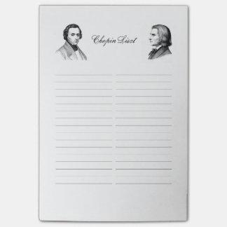 Het winkelen van Chopin Liszt lijst Post-it® Notes